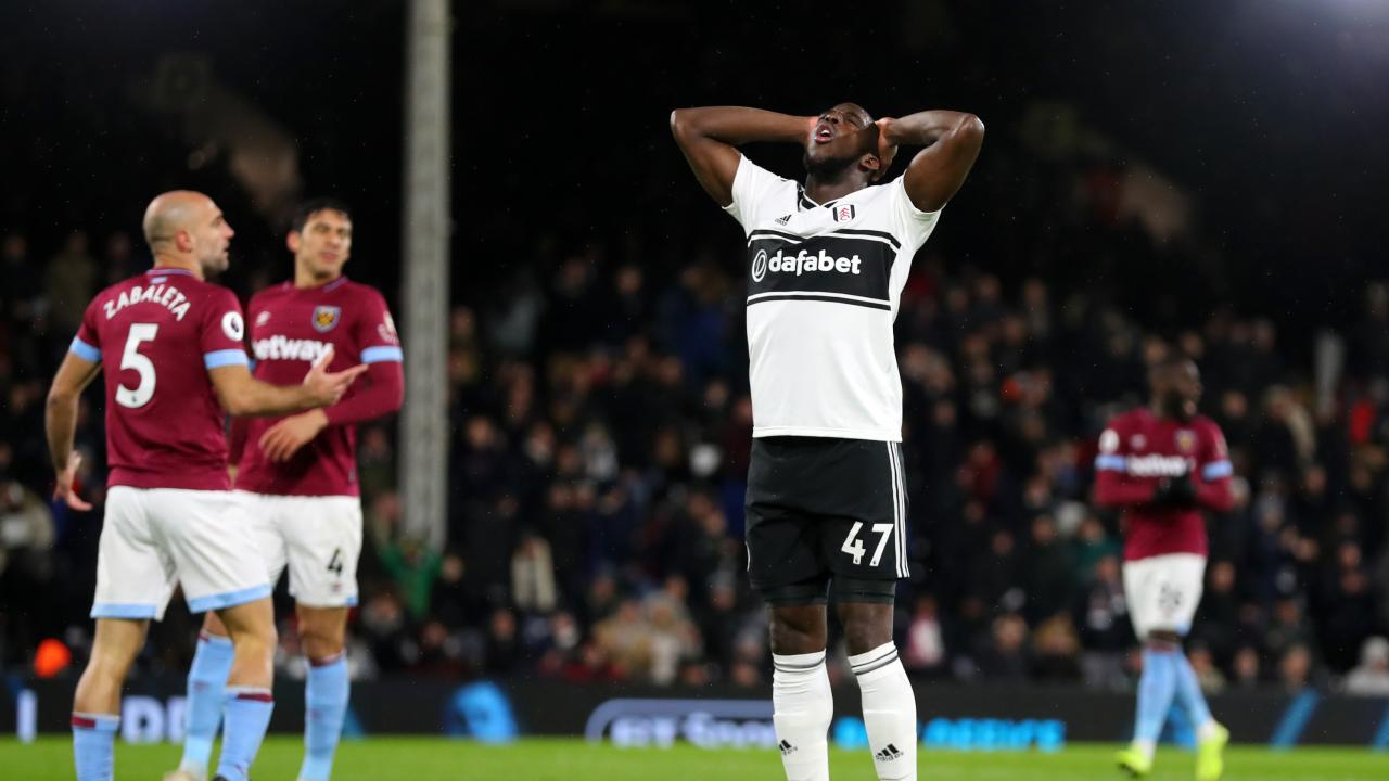 Aboubakar Kamara of Fulham reacts
