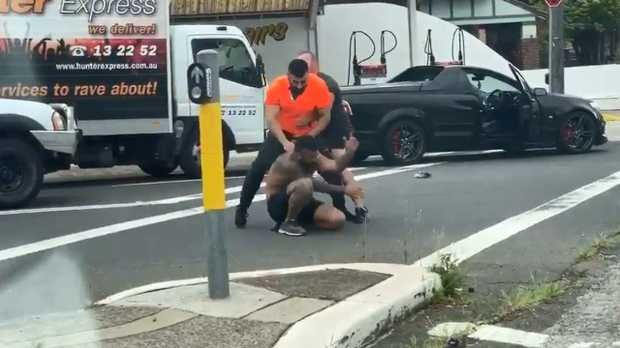 A shocking case of road rage is seen at an intersection in Sydney's Earlwood. Picture: Twitter