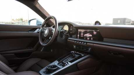 Inside the 911 has all the creature comforts of a luxury car.