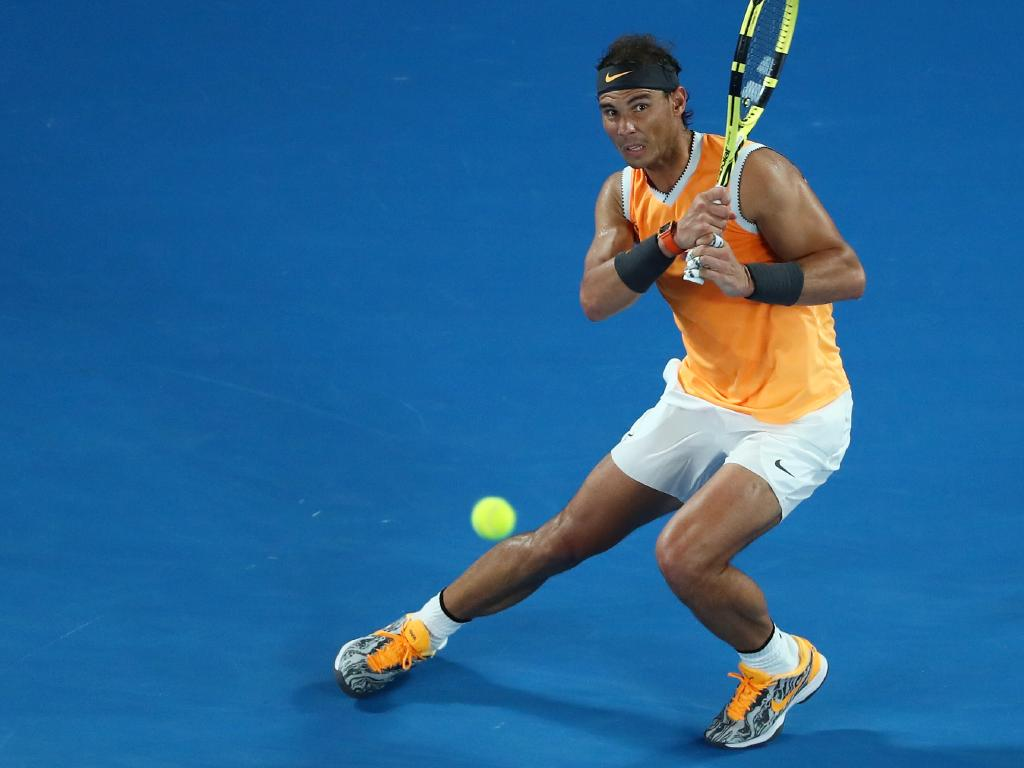 Rafael Nadal was at his absolute best on Rod Laver Arena. Picture: Getty Images