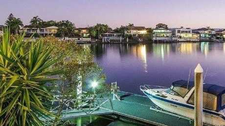 The six-bedroom house is in a prime position fronting the Nerang River. Photo: RP Data