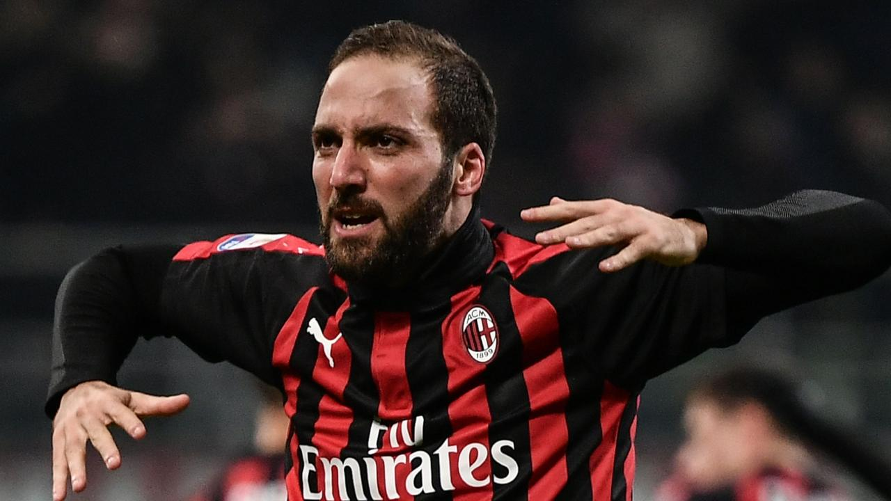 Gonzalo Higuain was out of form on loan with AC Milan. Picture: AFP