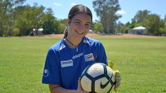 GOLDEN GOALIE: Natalie Stevenson, Chinchilla's Australia Day Junior Sports Award winner for 2019.