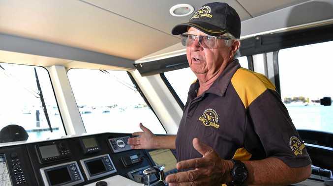 Former Deputy Commander Rod Ashlin from Mooloolaba Coastguard keeping people safe on the waterways.