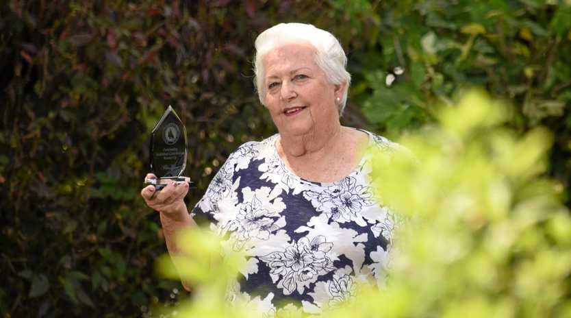 PROUD HELPER: Valma Evans was named runner-up at the Queensland Ag Show's gala dinner.