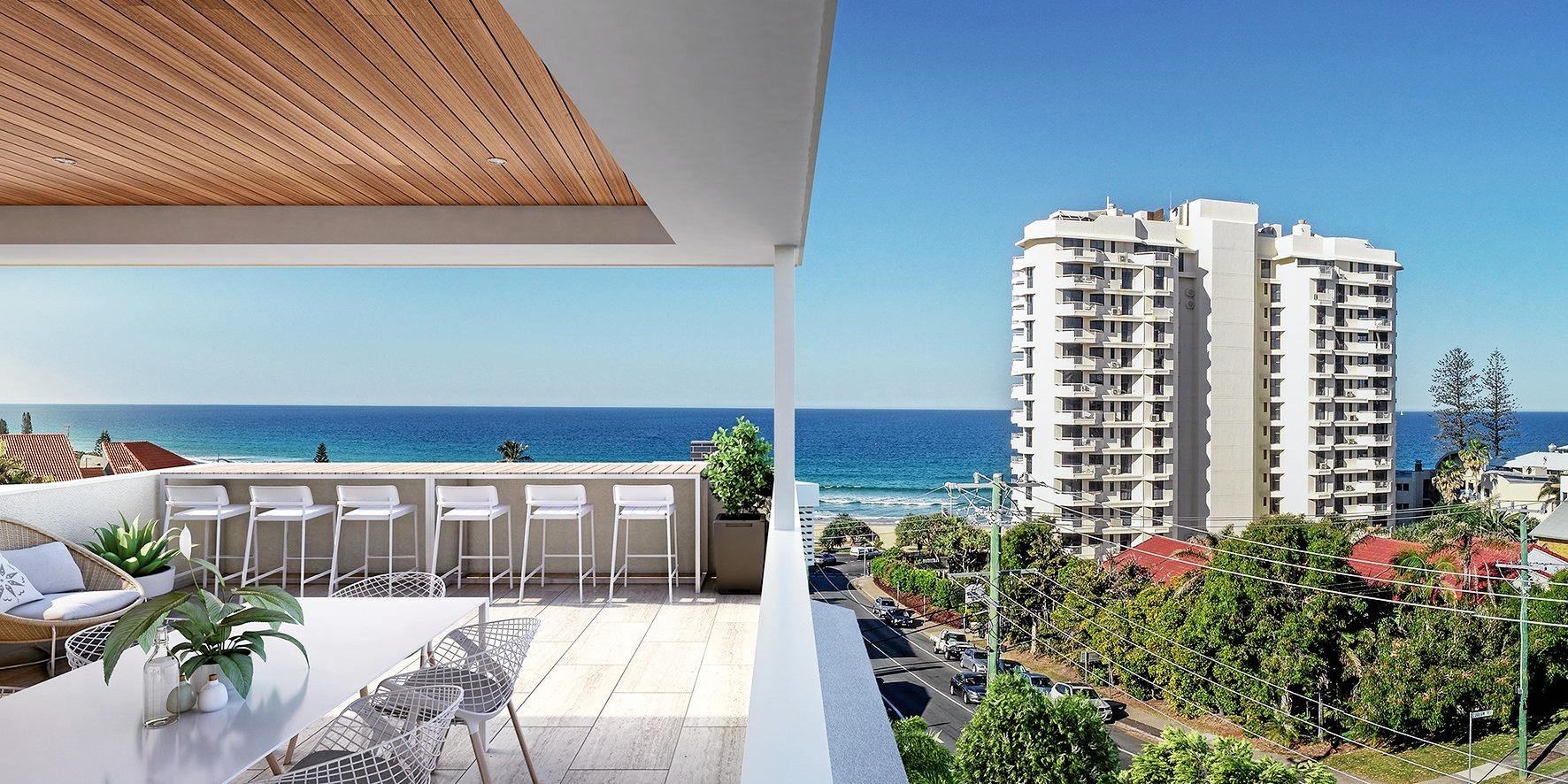 Three of the seven apartments at Latitude Coolum Beach have sold within a month of the development being launched.