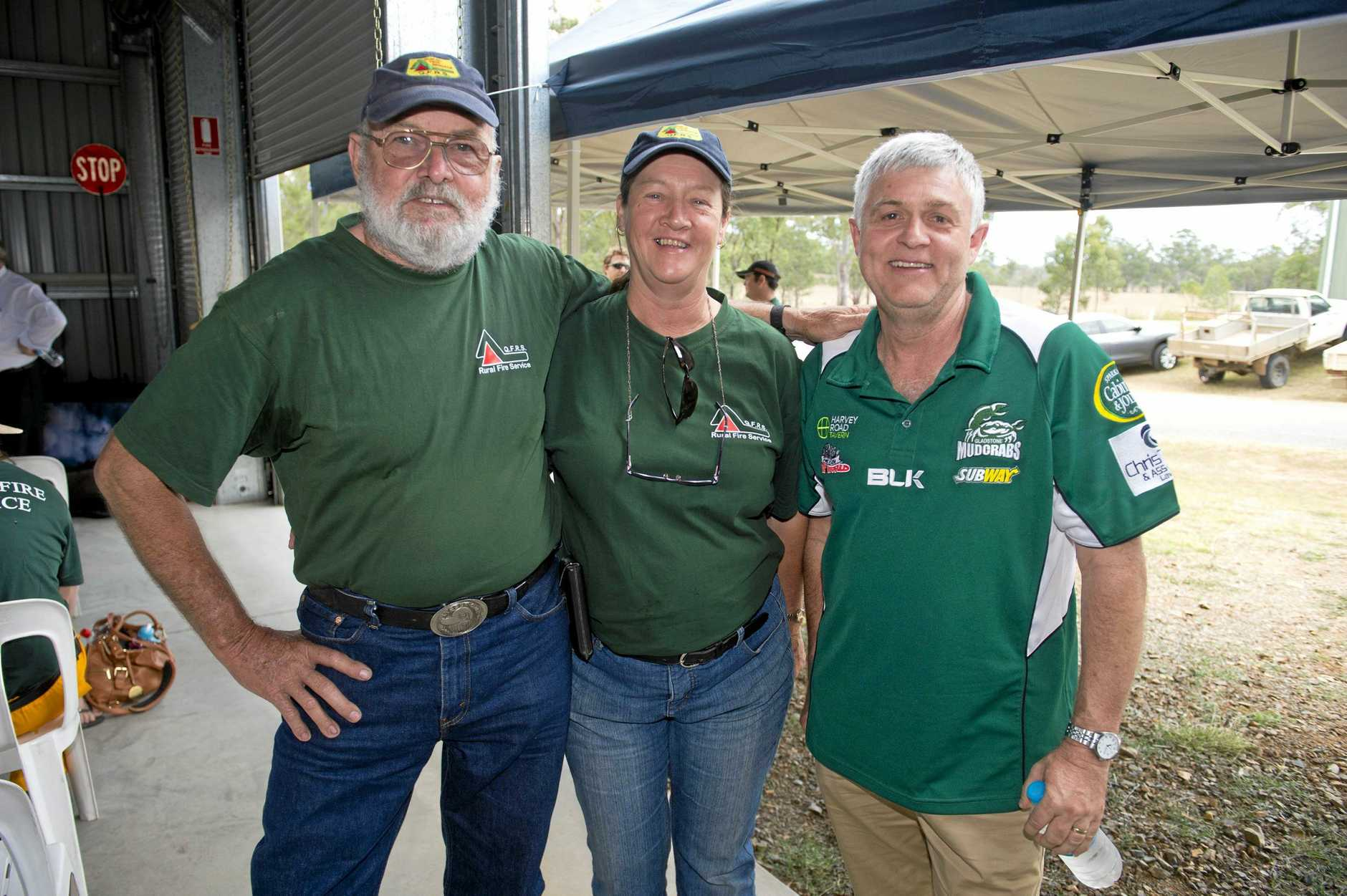 Frank and Barb McKee and David Sparkman attended the opening of the Mt Larcom Fire Station Garage on the weekend.