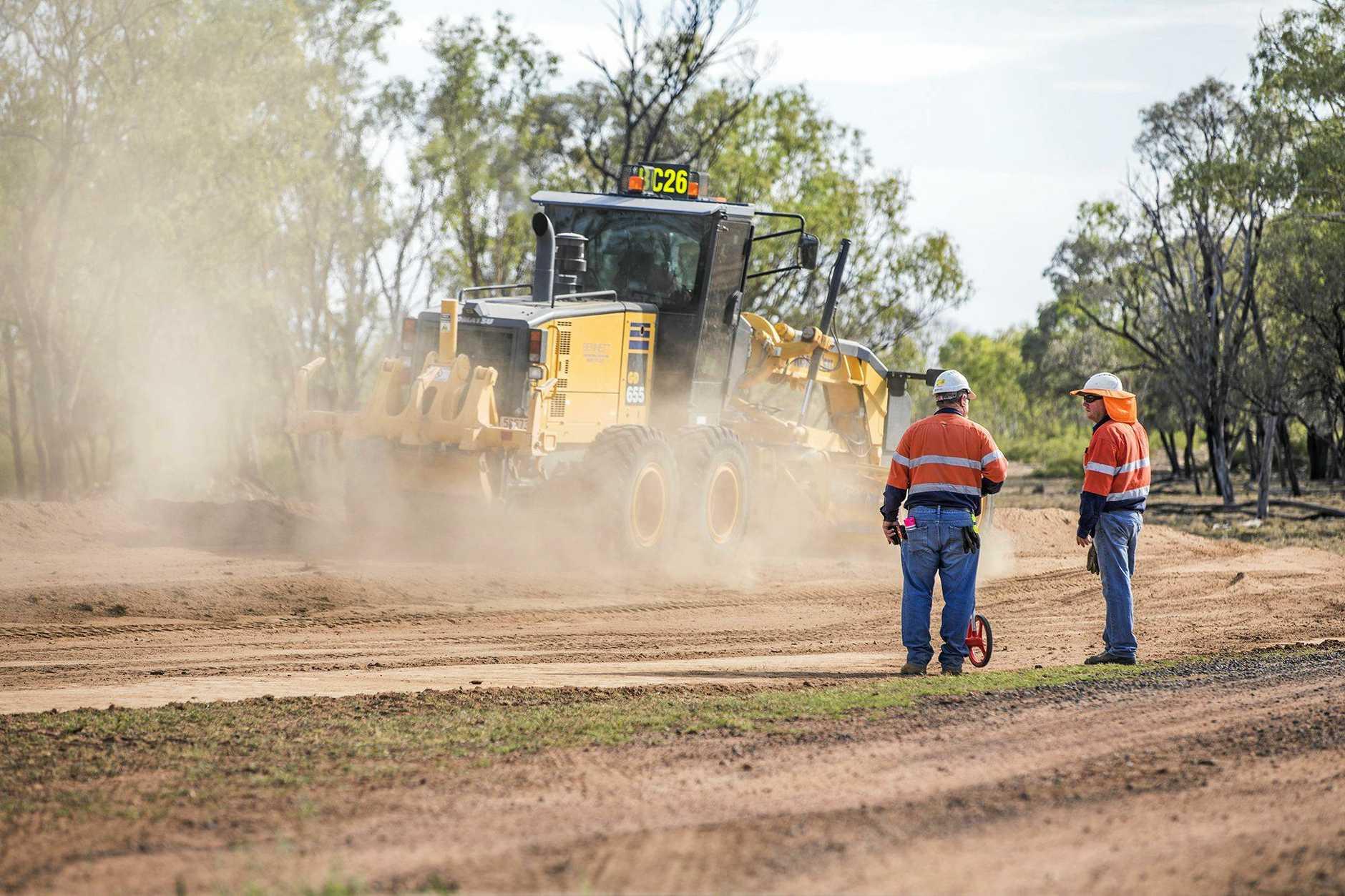 Adani road works underway at Carmichael Mine