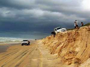 'Stay off the dunes': High tides threaten beach driving