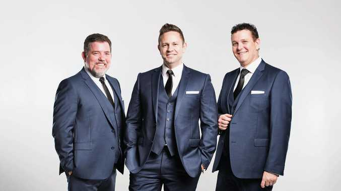 LIVE MUSIC: Tenori, made up of (from left) David Kidd, Craig Atkinson and Andrew Pryor are coming to Toowoomba.