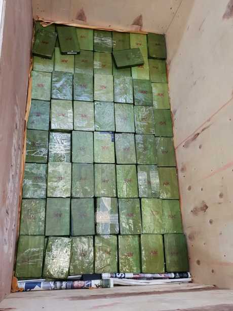 Four men have been charged following a joint agency investigation into the importation of more than 150 kilograms of heroin into Sydney. Picture: ABF