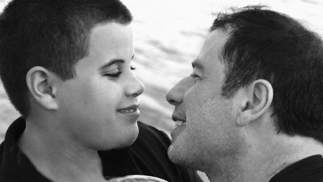 Travolta and his son.