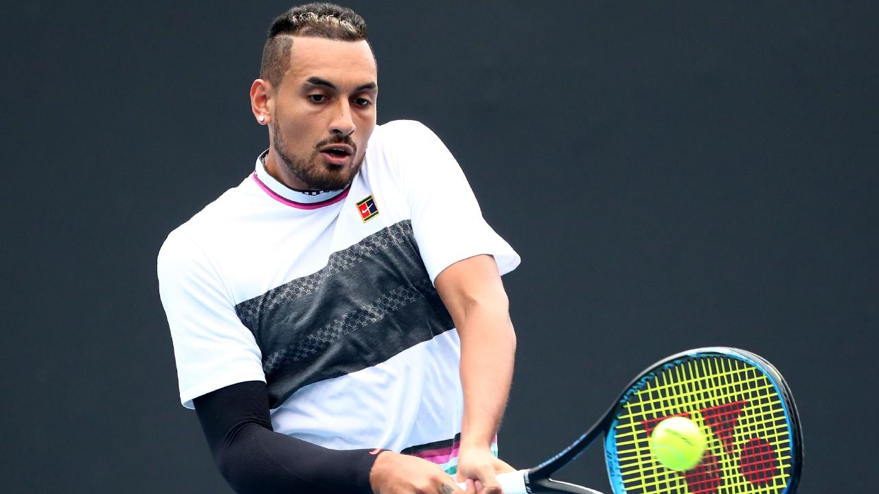 Nick Kyrgios went out in round 1