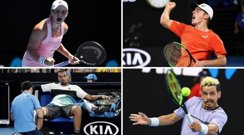 Ash Barty, Alex de Minaur, Nick Kyrgios and Alex Bolt enjoyed plenty of highs and lows throughout the Australian Open.