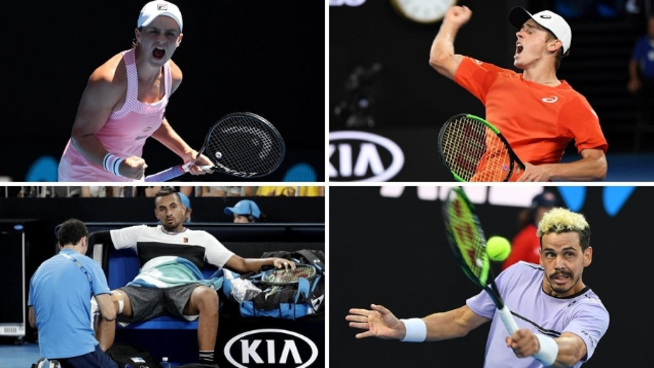 Ash Barty, Alex de Minaur, Nick Kyrgios and Alex Bolt enjoyed plenty of highs and lows throughout the Australian Open.