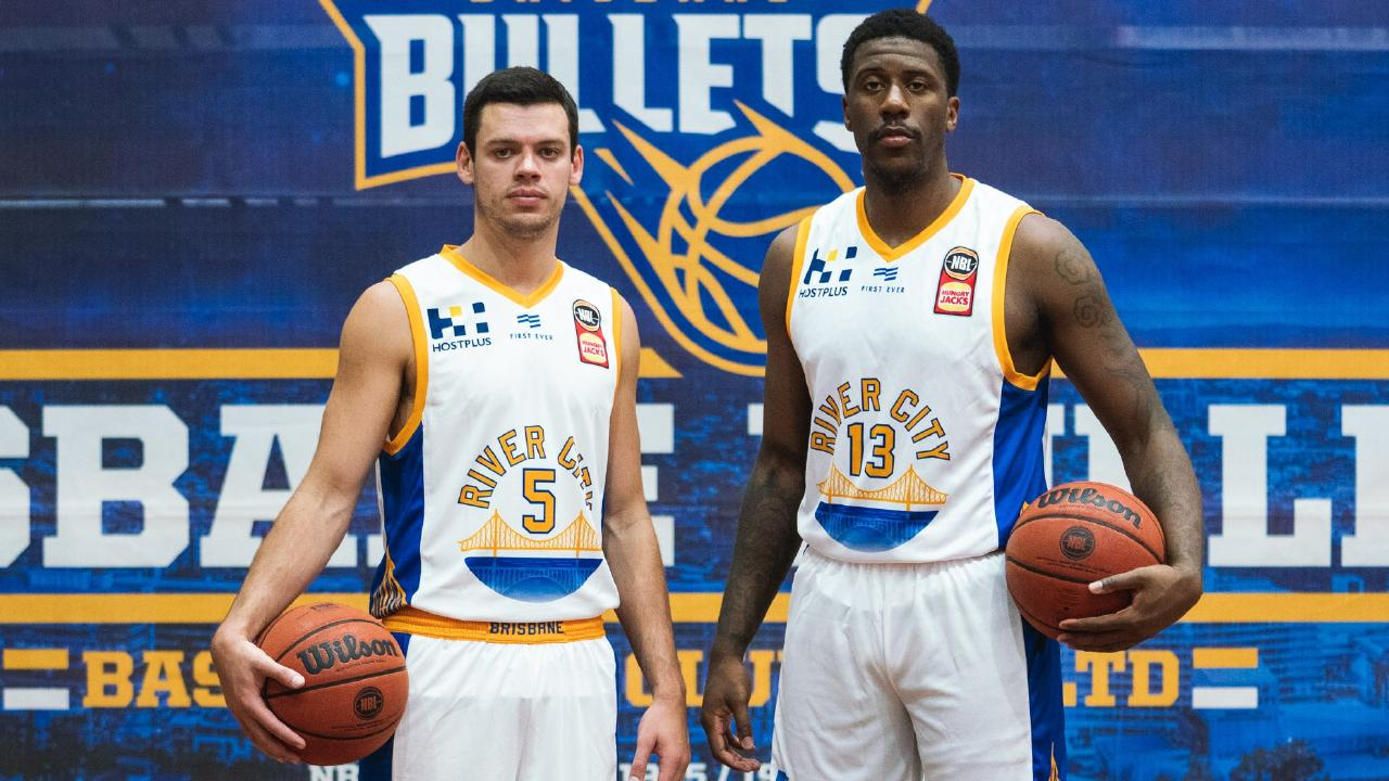 Jason Cadee and Lamar Patterson in the special River City kit.