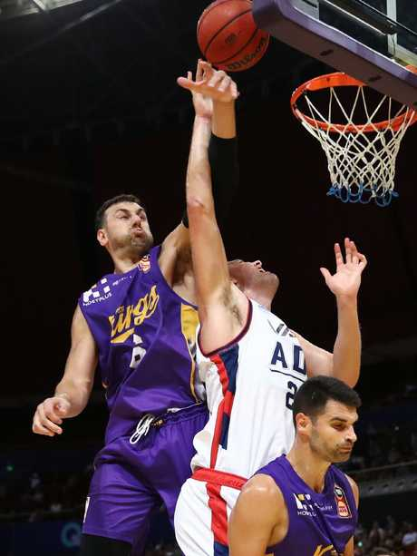Sydney Kings star Andrew Bogut has proven his value for his team this season. Picture: AAP Image/Brendon Thorne