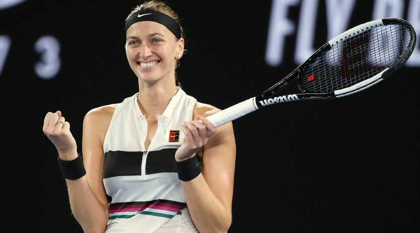 Petra Kvitova is downplaying how special her appearance in the Australian Open final is considering what she's been through. Picture: Michael Klein