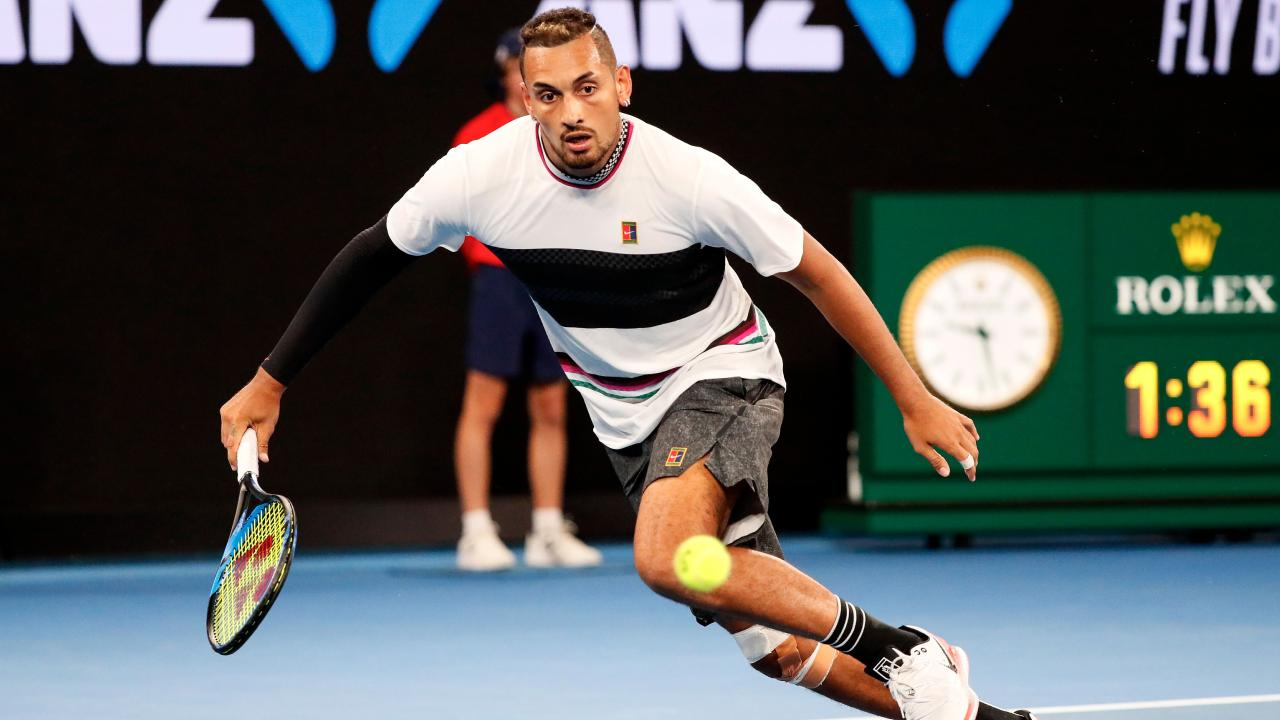 Nick Kyrgios returned a serve not even aimed at him.