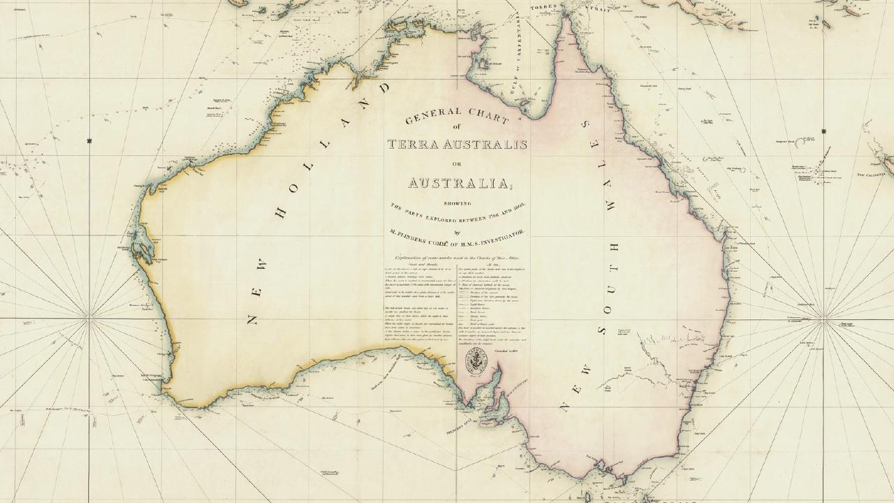 General Chart of Terra Australis or Australia, 1814-1822.