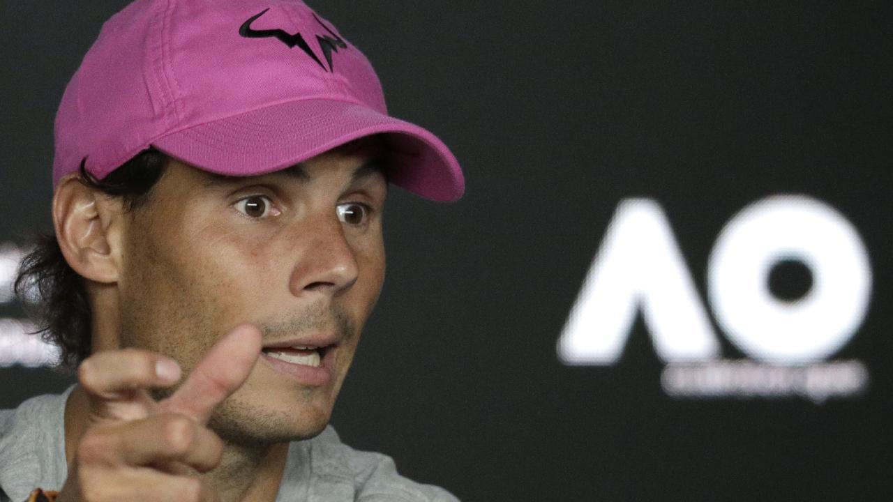 Rafael Nadal did it easy against Stefano Tsitsipas. (AP Photo/Aaron Favila)