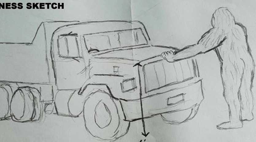 The man claimed the yowie pushed his car. Picture: Dean Harrison/Australian Yowie Research