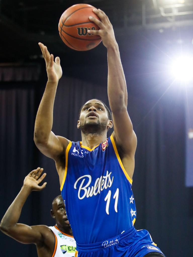 AJ Davis' Brisbane Bullets team is the hottest squad in the NBL right now. Picture: AAP Image/Glenn Hunt