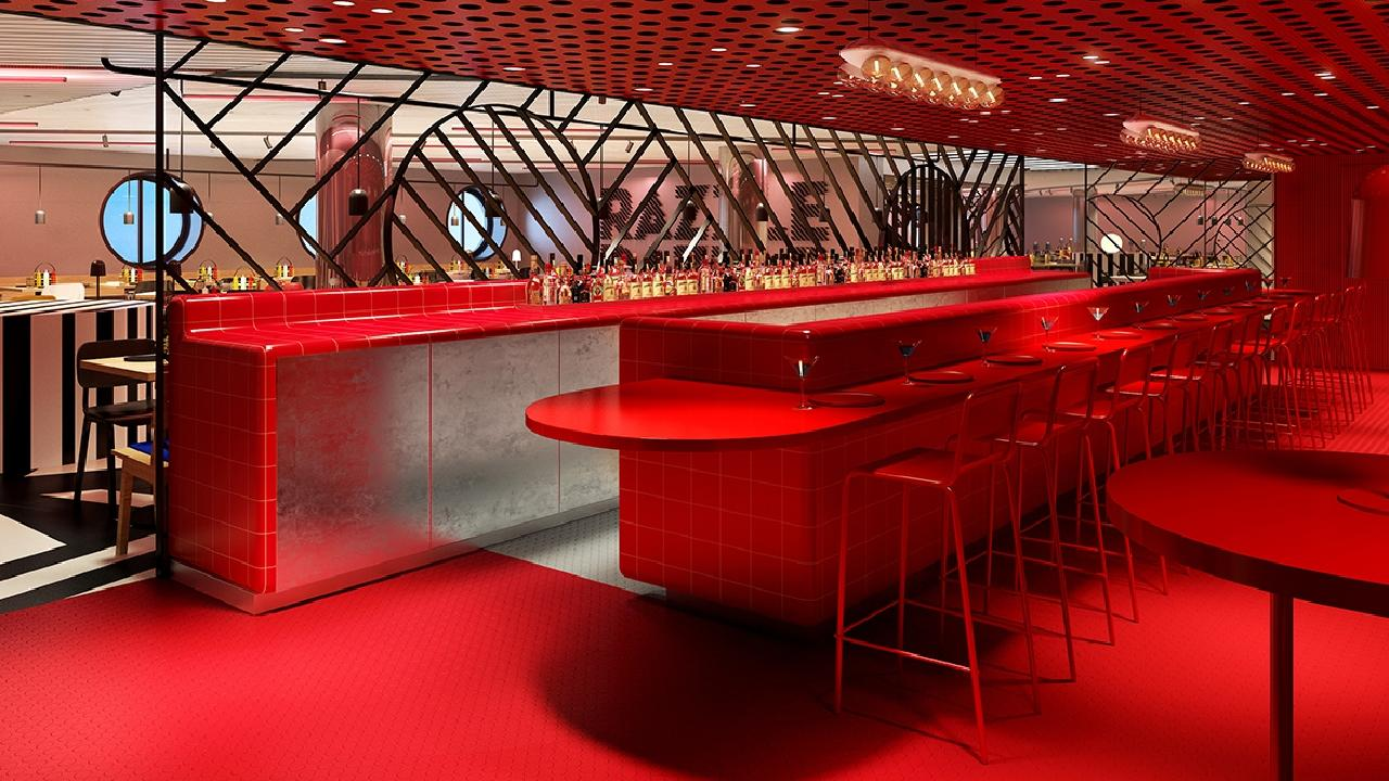 Inside Virgin Voyages' Scarlet Lady adults only cruise ship. Picture: Virgin Voyages
