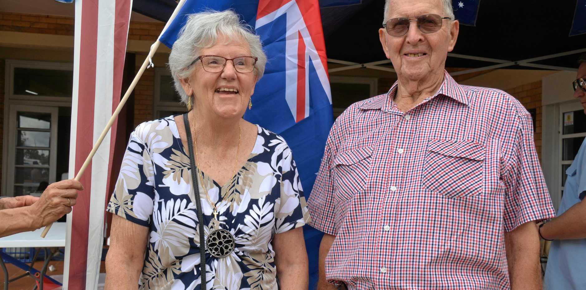 AWARDS: Wondai's OAM recipients Elaine Madill and Roy Radunz at the 2019 Wondai Australia Day breakfast on January 26.