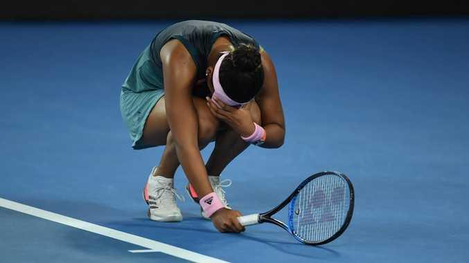 Naomi Osaka almost fell to pieces.