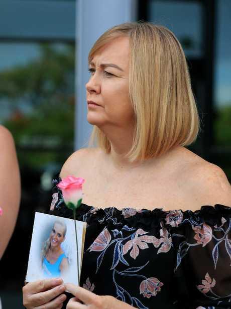 Janine Mackney, Breeana's aunt, outside court.