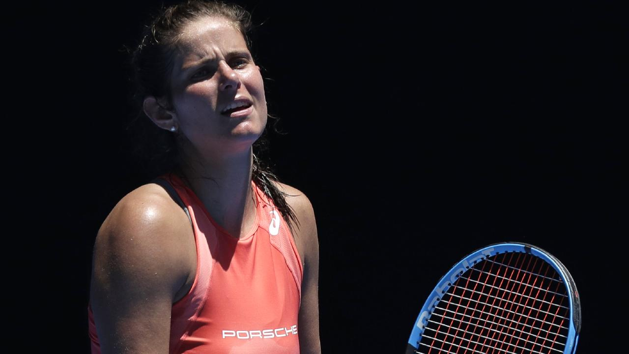 Julia Goerges copped a brutal Australian Open draw. Picture: AP Photo
