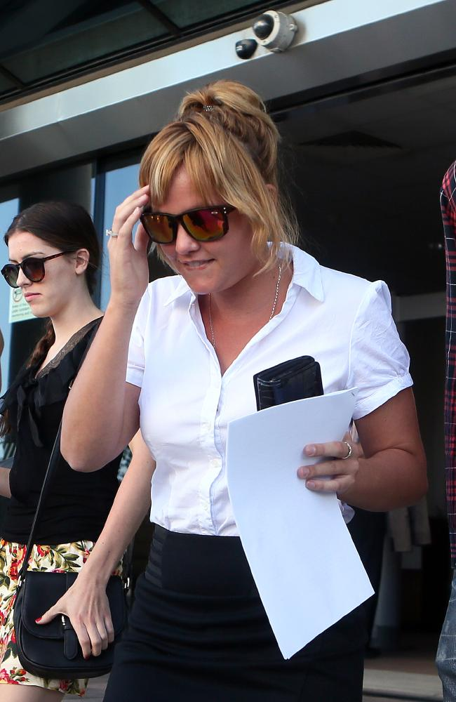 Samantha Catherine Todd leaving Maroochydore Court after her mother Dorothy Barnett was refused bail. Picture: Glenn Barnes
