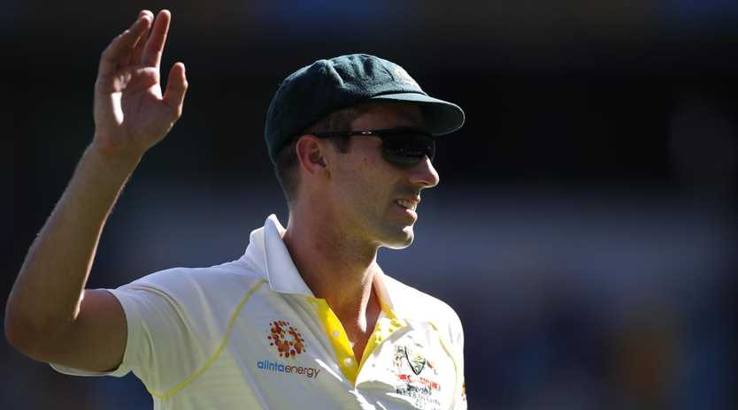 Pat Cummins was the star of the show as the Aussies cruised to victory. Picture: Ryan Pierse/Getty Images