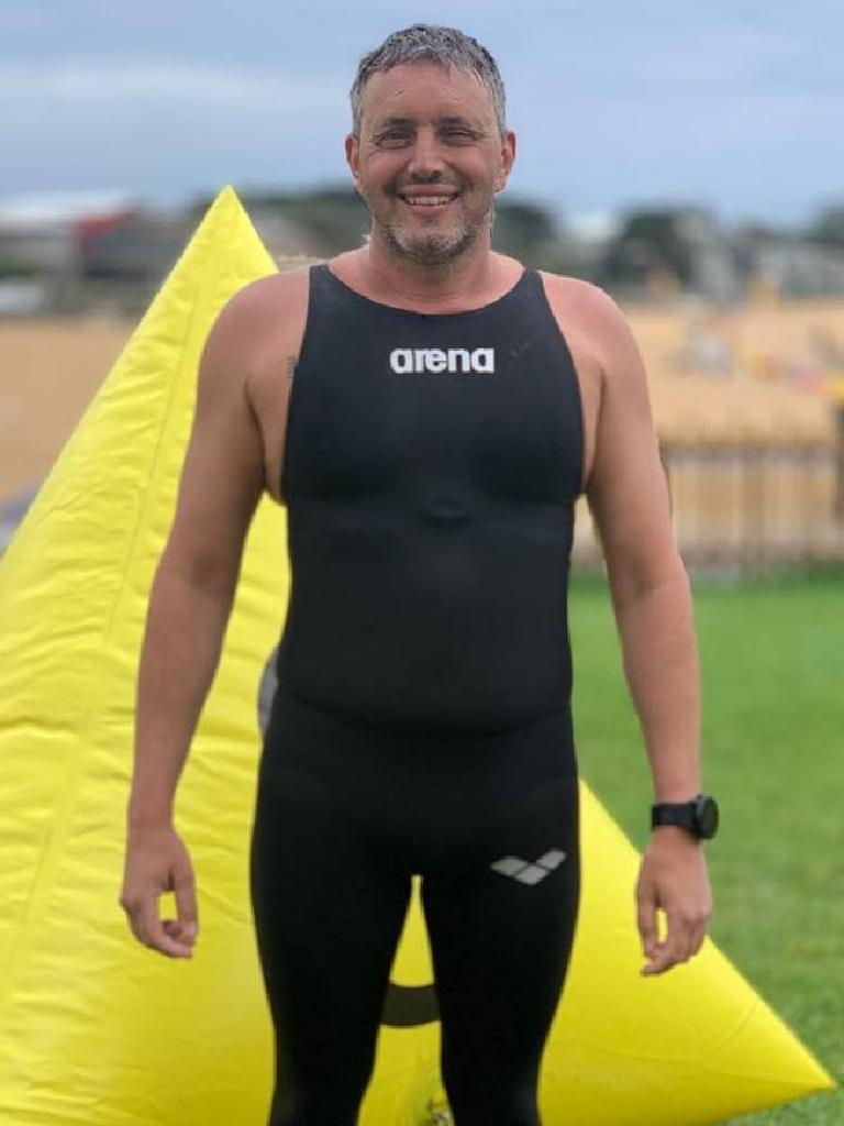 Mr Richards swims long distance events to help others.