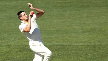 Chris Tremain in action for the Cricket Australia XI. Picture: Getty