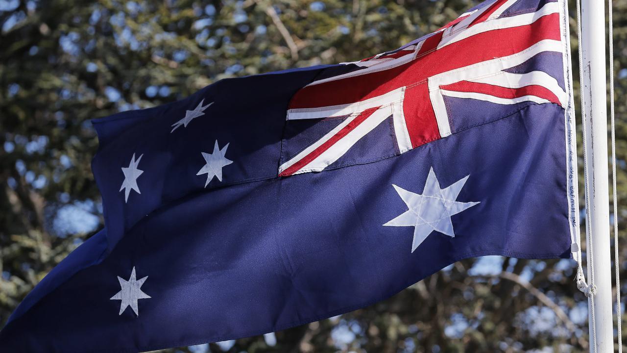 The Australian flag. Picture: Mathew Farrell