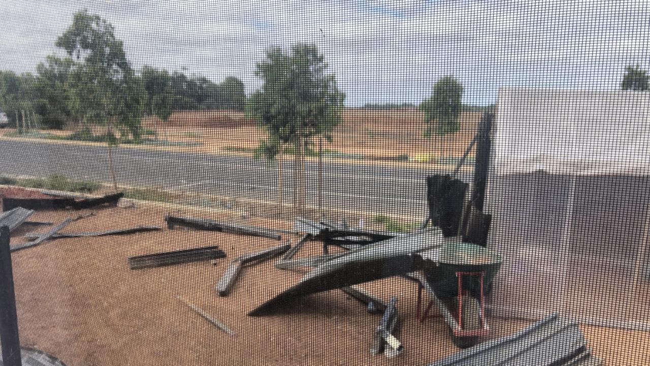 The aftermath of the crash. Photo via CCTV. Picture: Ben Harvy