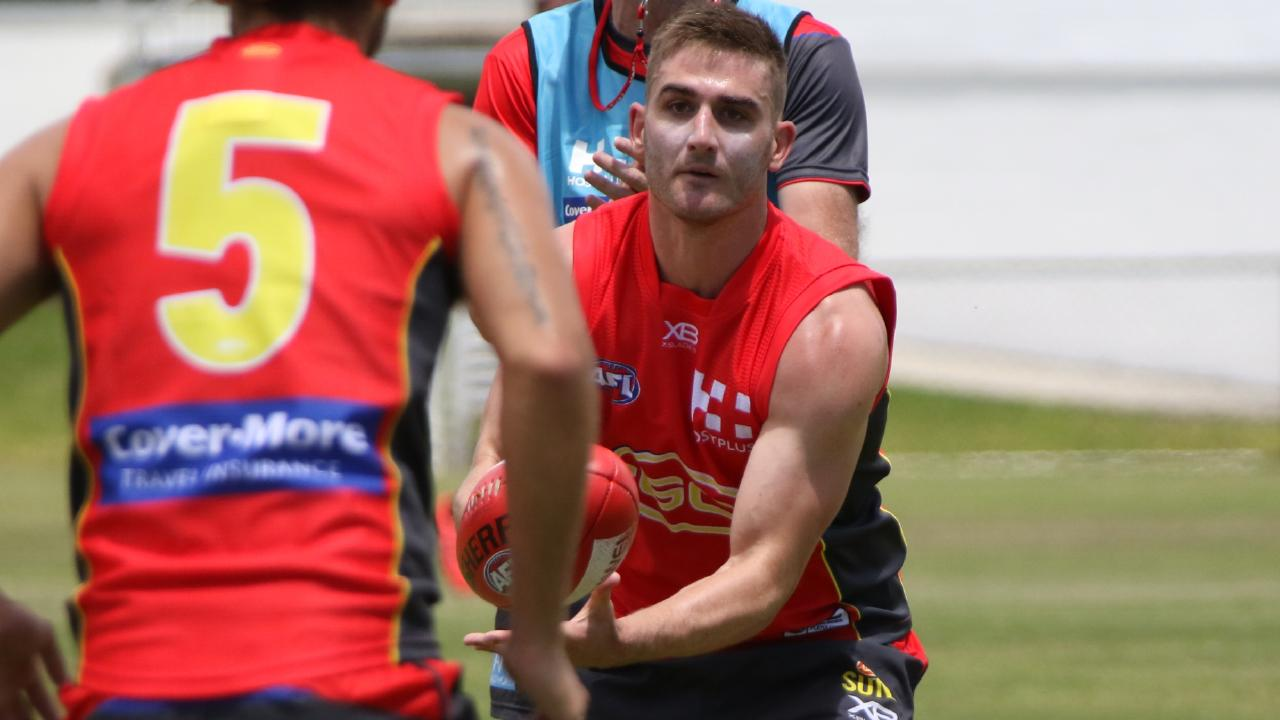 Gold Coast Suns recruit Anthony Miles at training. Picture: Supplied.