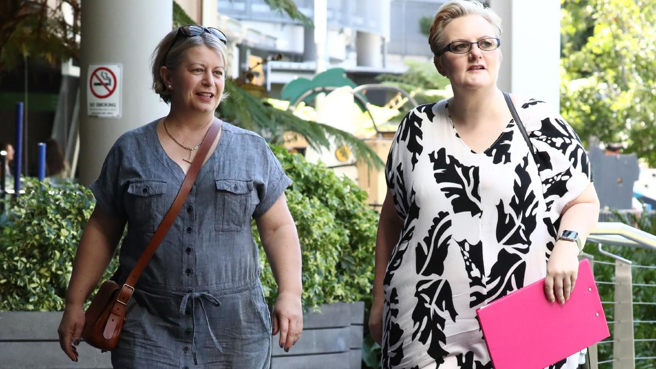 Donna Baluskas (left) and Laura Lawson, two of the parents Tracey Brose is suing. Picture: Jason O'Brien