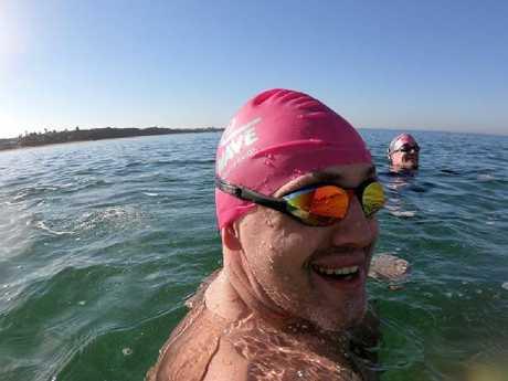 Mr Richards said swimming saved his life.
