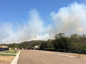 Bushfire rages on with 15 crews on scene
