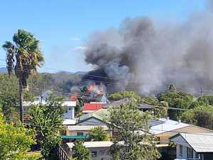 Home destroyed by flames on hectic Australia Day