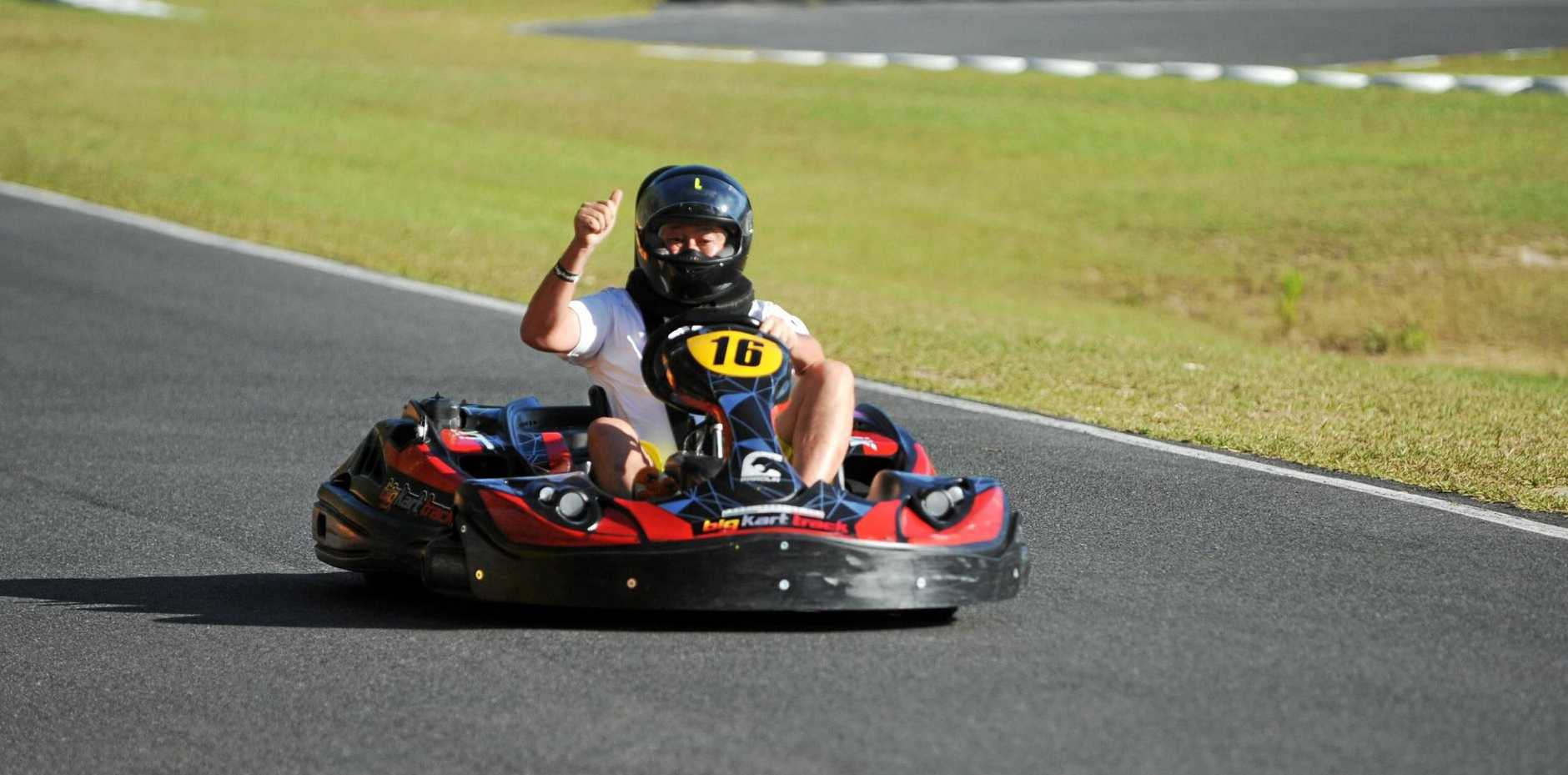 The Big Kart Track at Landsborough has has a major increase in visitor numbers over the summer.