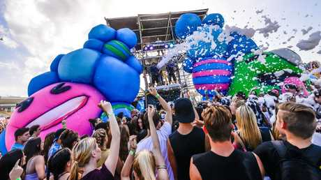Festival-goers have been warned about taking drugs in. Picture: Paul Barbaro
