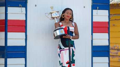 Australian Open 2019 women's champion Naomi Osaka celebratea her second Grand Slam title