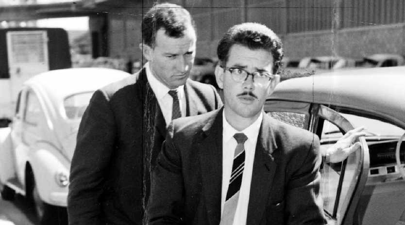 Leonard Keith Lawson, 1962, being led to court. Picture: News Corp.