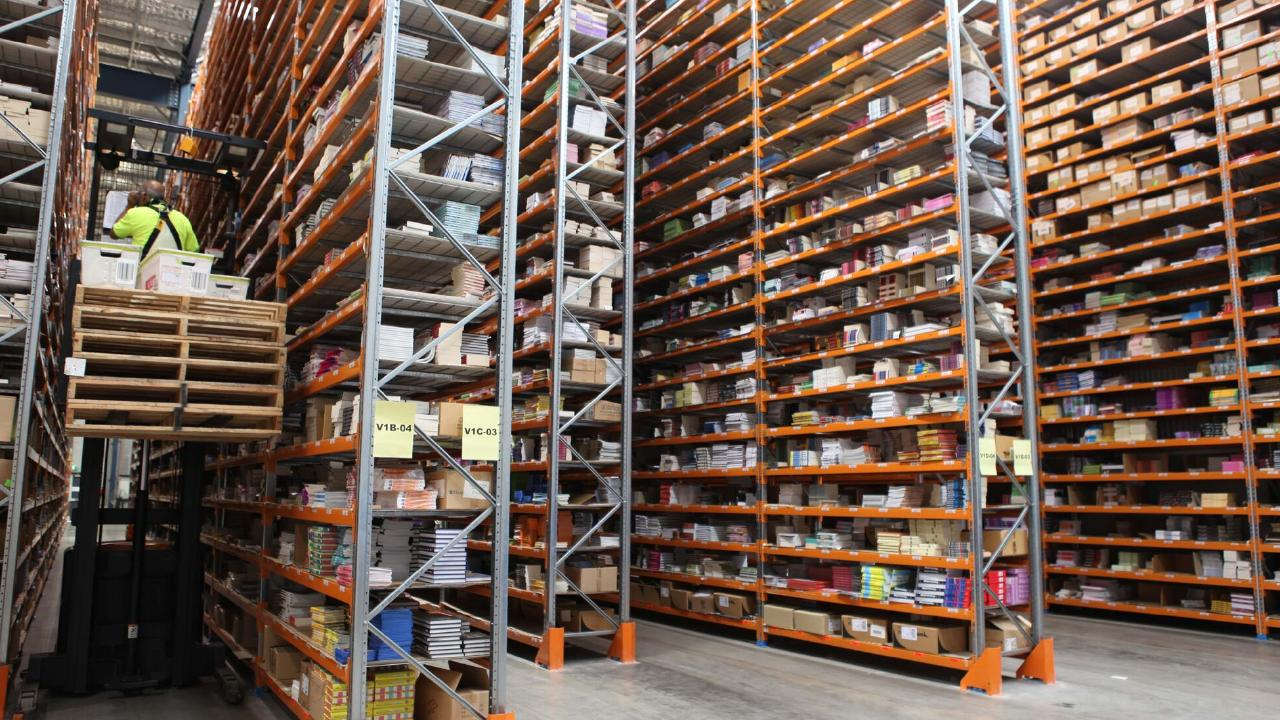 The warehouse has 150,000 titles in stock ready to ship. Picture: Supplied