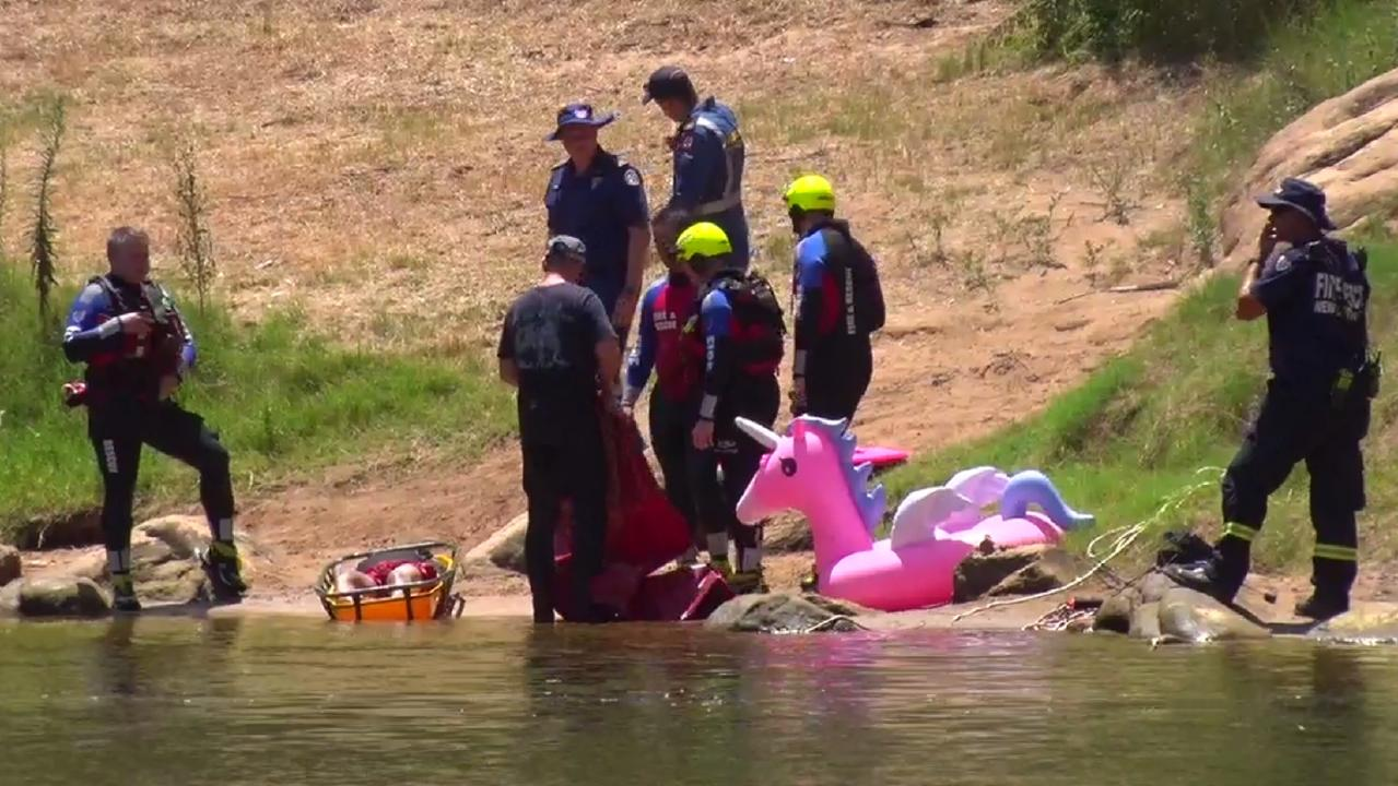 The search operation for a man swimming in Sydney's west. Picture: TNV