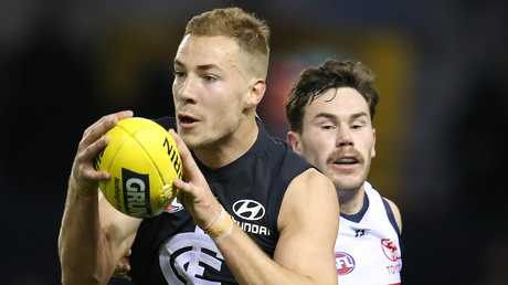 Carlton fans want to see more of  Harry McKay. Picture: Michael Klein